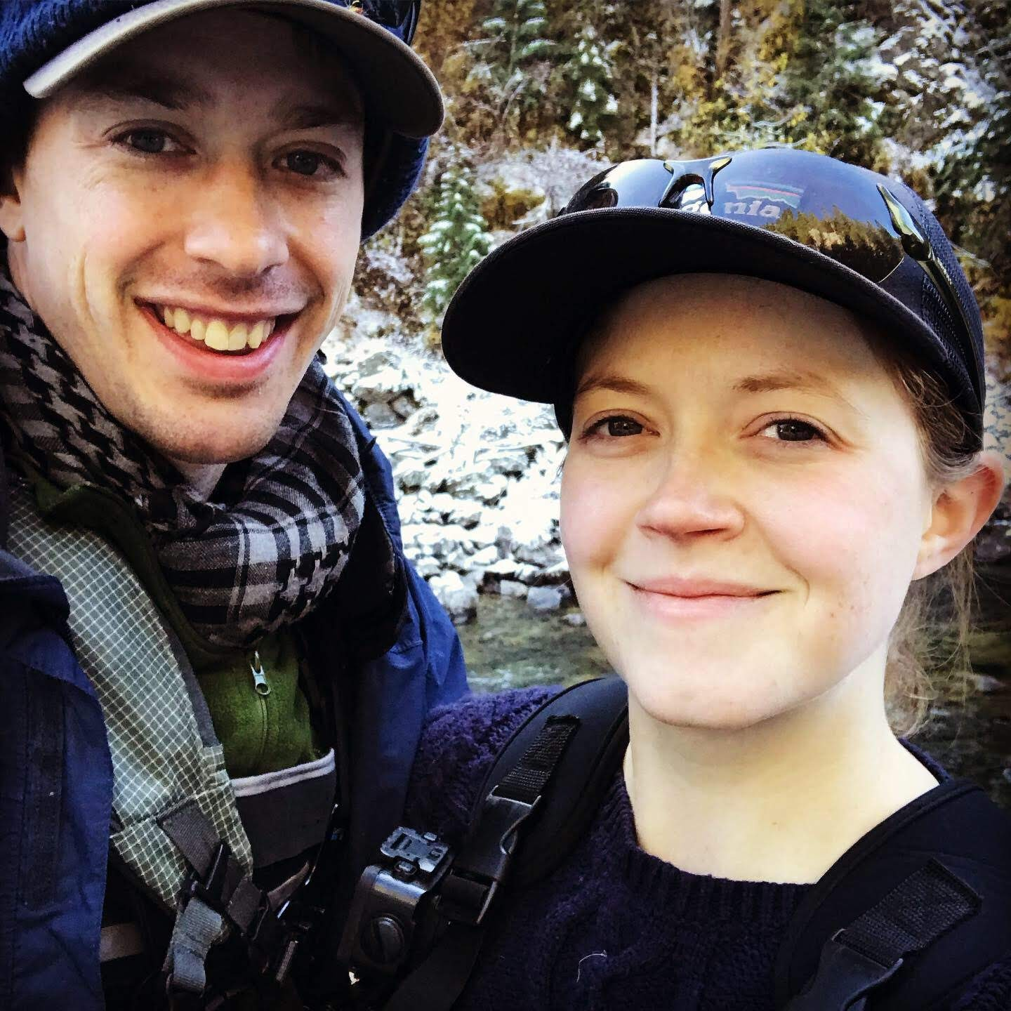 Picture of two people outdoors